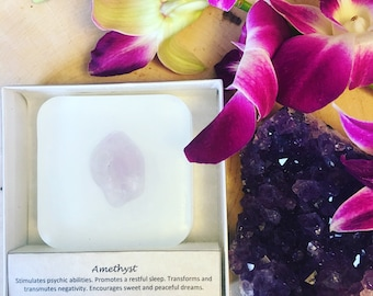 Amethyst Infused Lavender Vanilla Soap