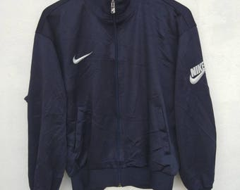 Vintage Original Jacket NIKE SWOOSH Embroidery Logo 90s Front Zipper Condition Like Deadstock !!!