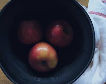 Large black bowl