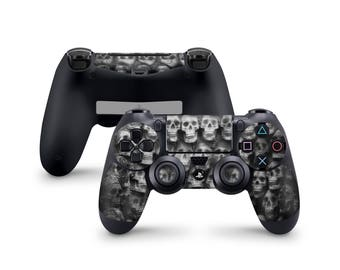 Black Skulls Skin For Sony Playstation 4 Dualshock Wireless Controller PS4
