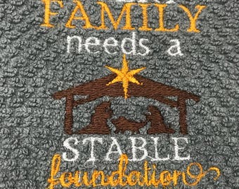 Stable Foundation Christmas Kitchen Towel