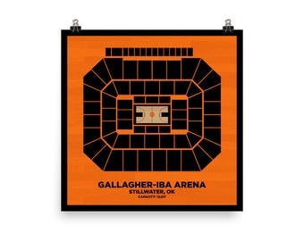 Gallagher-Iba Arena Wall Art - Oklahoma State University Cowboys Basketball