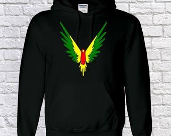 unisex kids maverick multi-colour hoody, jake logan paul INSPIRED , youtube hoodie