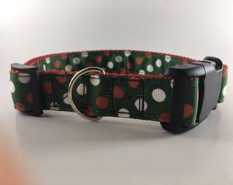 Christmas Dots Dog Collar