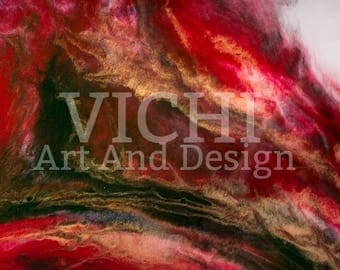 Art, resin art, red, gold,abstract.