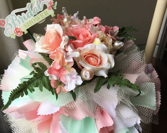 Bridal Shower or Wedding Centerpiece Ribbon Ball - Choice of White, Colored, or combination of Flowers