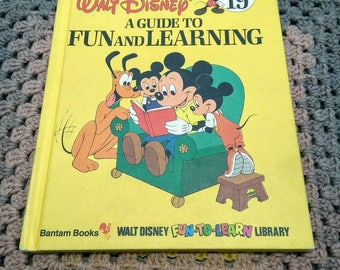 Walt Disney's a Guide to FUN and LEARNING Vol 19 HB 1983 Vintage Educational