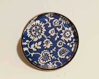 Cabochon ring retro vintage 25 mm