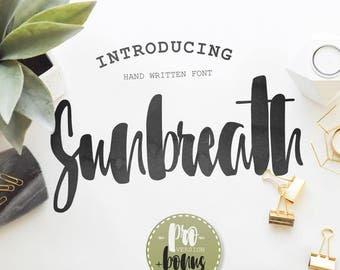 Calligraphy Font,  Swirly Font, Wedding Watercolor, Christmas font, Handwritten Script  Instant Download - Sunbreath-font