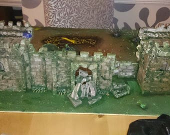 Model Medieval Castle Modified to a WarHammer 40K Theme !?!?