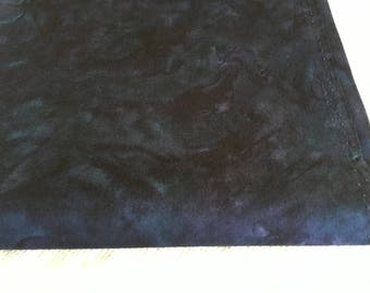 """Fabric- """"Crush"""" by Nancy Crow for Henry Glass, Dark Blue,  Priced by the HALF yard"""