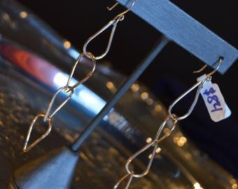 Silver Chain Link Earrings