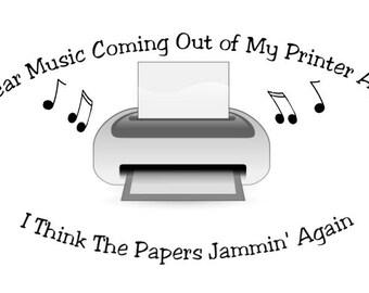 Printer is Jammin Funny Shirt