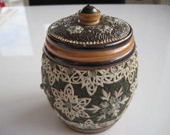 Doulton Lambeth Slaters Patent Tobacco Jar