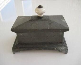 Cast Iron Tobacco Jar