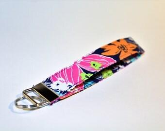 Floral Wrist Lanyard. Gift Idea. Key Holder.