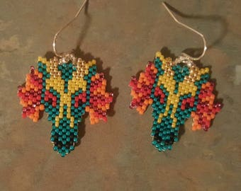 Beaded Dragon Earrings