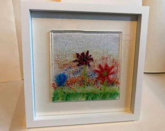 Colour flowers fused glass