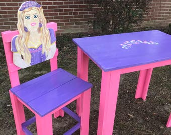 Princess Character Chair and Table