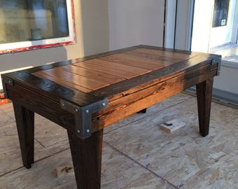 Reclaimed rustic knotty pine coffee table