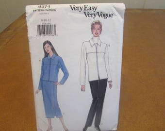 Sewing Pattern~Easy~Vogue~Misses~Jacket~Skirt~Pants~8-12
