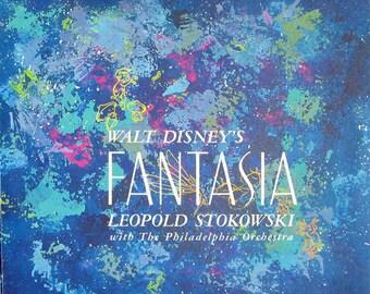 Walt Disney's Fantasia- Original 60's Animated Movie Soundtrack 3 X Vinyl LP Record + Book Set