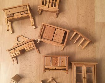miniature furniture living room 11 pieces