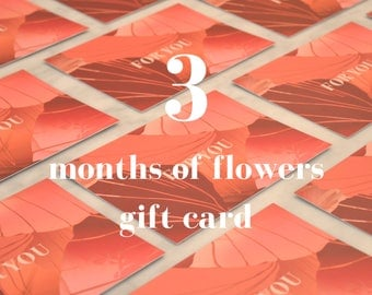 Gift card - 3 months of letterbox stems