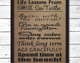 sea turtle, wisdom from sea turtle, turtle sign, turtle art, sea turtle decoration, sea turtle wall art, sea turtle wisdom sign, B5