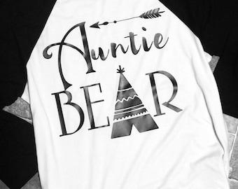 Auntie Bear Raglan