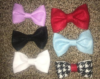 Felt bows and headbands