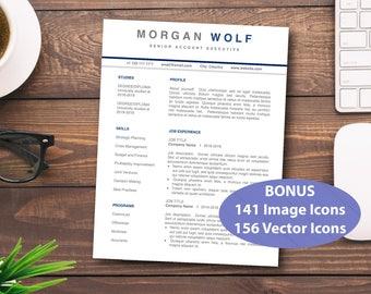 CV Template Word, Resume for Word, Custom Resume, CV Modern, Resume Cover Letter, Classic Resume, CV Templates, cv template word, Modern cv