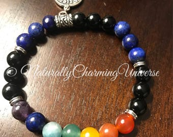 High Quality Custom Zodiac Healing Chakra Bracelet