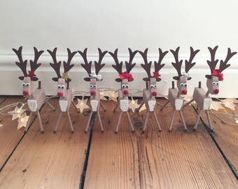 Hand Painted Reindeer Decoration