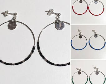Silver earrings & colors