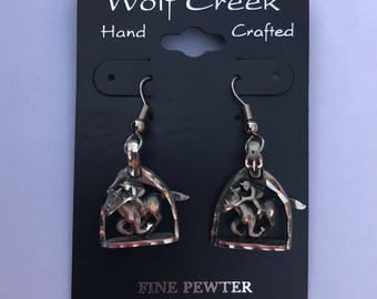 Cowboy & horse earrings