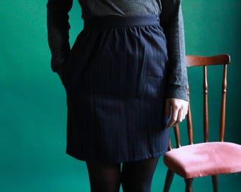 Navy striped mini skirt tennis / JUP17-7