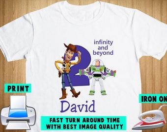Toy Story Iron On Transfer / Toy Story Birthday Shirt DIY / Boy Birthday Shirt / Toy Story Shirt DIY / Personalize Name/Digital Files
