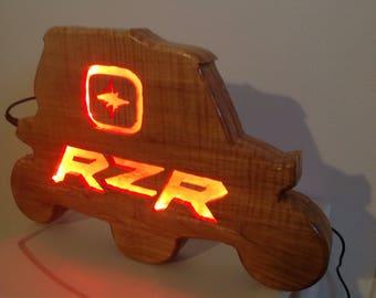 Wooden Led 4 Wheeler Sign