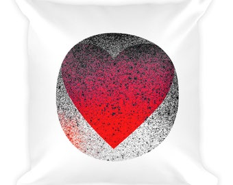 "YouJustKnow Square Pillow ""Heart"""