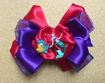 Little Mermaid Hair Bow