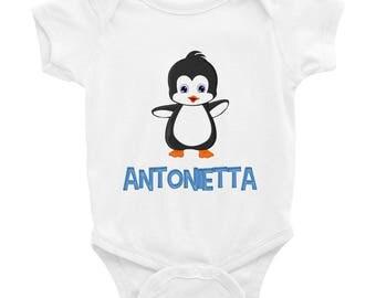 Antonietta Penguin Infant Bodysuit