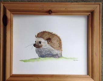 Watercolour of a hedgehog. Original,
