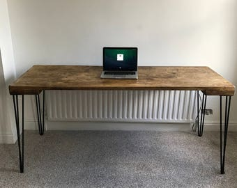 Rustic Reclaimed Table With Hairpin Legs