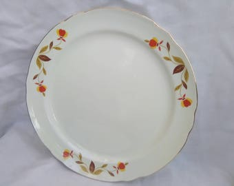 "Vintage Hall China Jewel Tea Autumn Leaf 8"" Salad Plate."