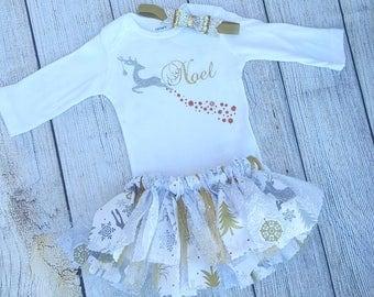 Precious baby girl holiday/Christmas tutu set