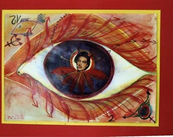 "The Eye of the Medusa 1-zodiac Sign ""Aries""-collage"