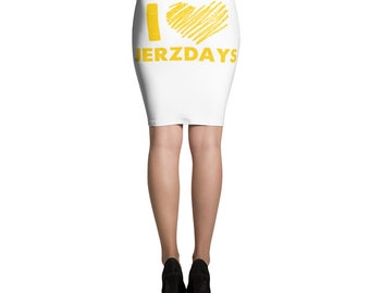 I LOVE JERZDAYS Jersey Shore Pencil Skirt