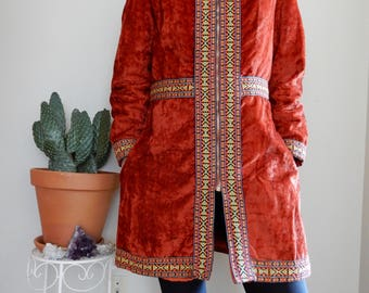 Late 60's Woodstock suede jacket • Rust • Ethnic • Embroidery • 1960's • Hippie • Bohemian • Festival • Grace Slick • One of a Kind • Retro