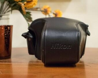 Black Nikon Camera Case, Vintage Camera Case